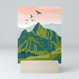 Machu Picchu Illustration by Cindy Rose Studio Mini Art Print