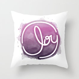Joy - Purple Throw Pillow