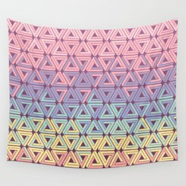Holographic Candy Geometric Wall Tapestry