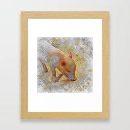 Artistic Animal Piglet Framed Art Print