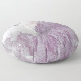 Romance: subdued reds, violets, grays, and pink abstract ink spills Floor Pillow