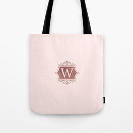 Girly blush faux rose pink gold monogram Tote Bag