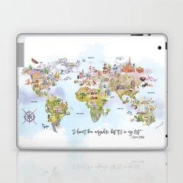 World Map Watercolor Laptop & iPad Skin