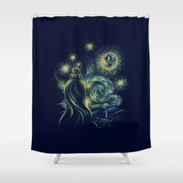 Death Starry Night Shower Curtain