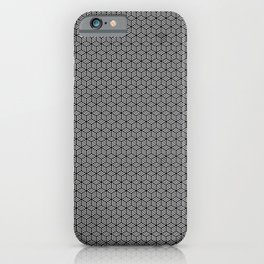 Isometric Weaved Cubes in Black and White Pattern - Graphic Design iPhone Case