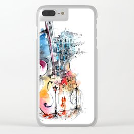 Abstract Music Clear iPhone Case