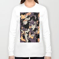 arya Long Sleeve T-shirts featuring Abstract Digital Painting by Hinal Arya
