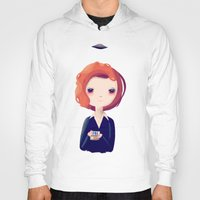 dana scully Hoodies featuring Dana by Nan Lawson