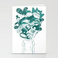 studio ghibli Stationery Cards featuring Studio ghibli mash up by Herdhi
