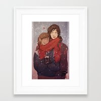 korrasami Framed Art Prints featuring LOK: Korrasami by squidwithelbows