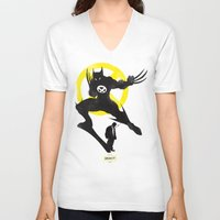 xmen V-neck T-shirts featuring Xmen - Logan Alter Ego  by Bklounge