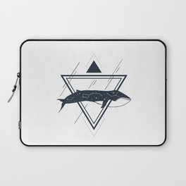 Cosmic Whale. Geometric Style Laptop Sleeve