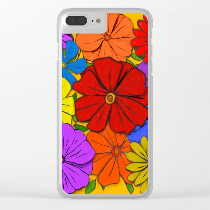 Abstract #346 Flower Power #3 Clear iPhone Case