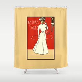 Nature ed Arte, Italian Lady on an antique telephone Shower Curtain