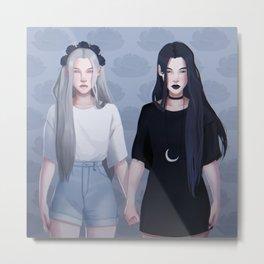 Ying and Yang Twins Metal Print