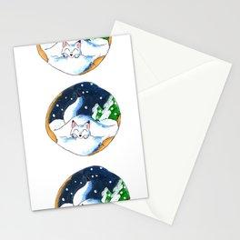 Frosty Fort Stationery Cards