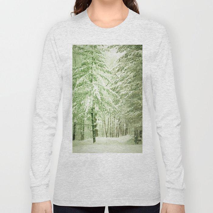 Winter Pine Trees Long Sleeve T-shirt