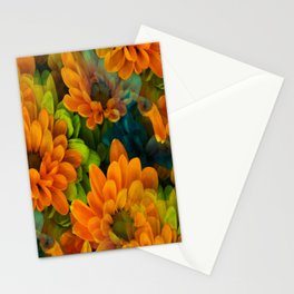 Orange Floral Bouquet Stationery Cards