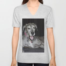 Happy Great Dane Unisex V-Neck