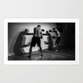 Shadow Boxing Art Print