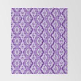 Diamond Pattern in Purple and Lavender Throw Blanket