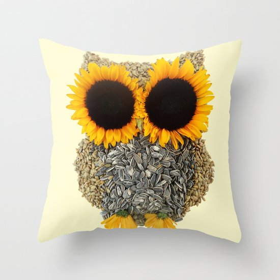 Hoot! Day Owl! Throw Pillow