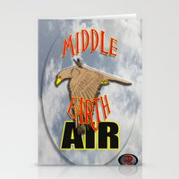 middle earth Stationery Cards featuring darrell merrill nerd artist: middle earth air by Nerd Artist DM