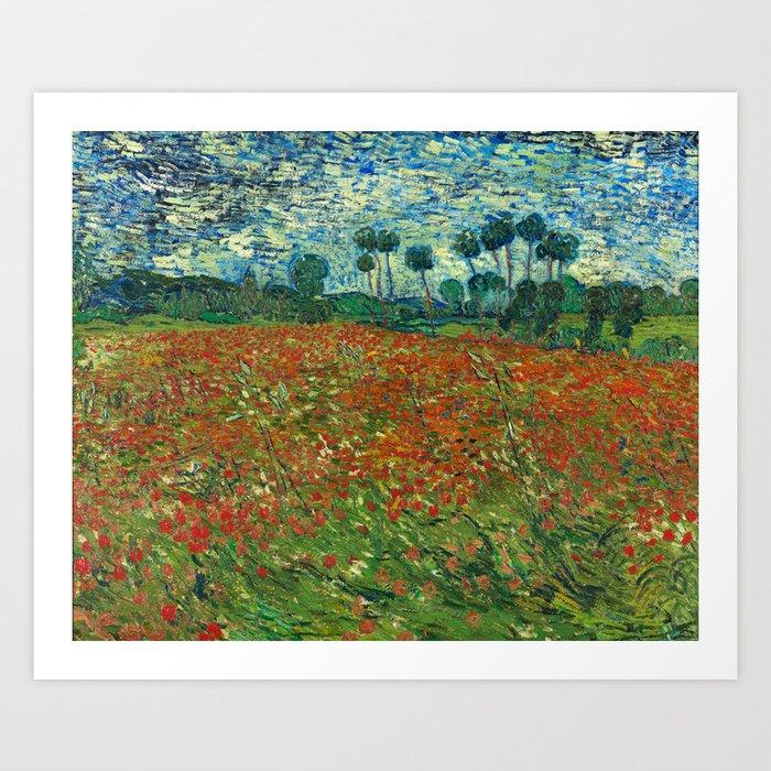 Vincent van gogh poppy field art print by artgallery society6 vincent van gogh poppy field art print mightylinksfo