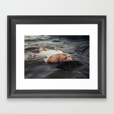 floating light Framed Art Print