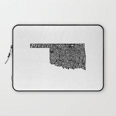 Typographic Oklahoma Laptop Sleeve