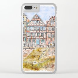 Waters Architecture Travel Clear iPhone Case