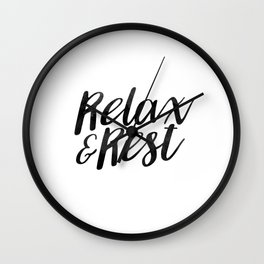RELAX AND REST Wall Clock