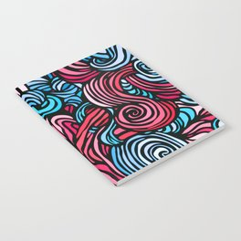 Swirl Design -- Pink & Blue Notebook