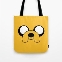 jake Tote Bags featuring Jake by Shane Harris