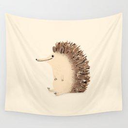 Happy Hedgehog Sketch Wall Tapestry