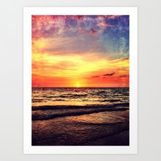 Orange Sunset Art Print