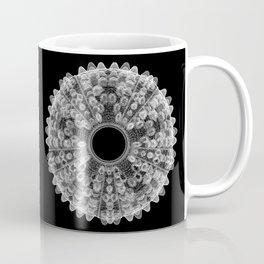 GEOMETRIC NATURE: SEA URCHIN b/w Coffee Mug