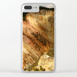 Yellow Rocks Of The Yellowstone Valley Clear iPhone Case