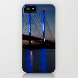 Indian River Bridge 2 Coastal Landscape Night Photograph iPhone Case