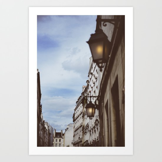 Lanterns & Streets of Paris Art Print