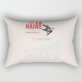 La Haine (Hate) Vincent Cassel, Mathieu Kassovitz, alternative movie poster, banlieue french film Rectangular Pillow