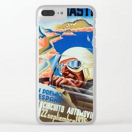 San Sebastian Spanish Grand Prix 1935 - Vintage Poster Clear iPhone Case