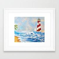 lighthouse Framed Art Prints featuring Lighthouse by Scherer Art