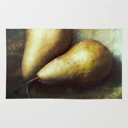 Florentine Fruit - Bosc Pears Still Life Rug