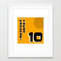 kuroko Framed Art Prints featuring kazunari Takao by Selis Starlight