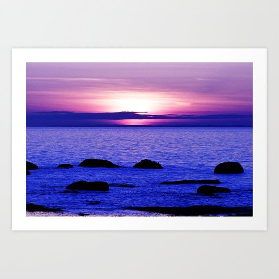 Dusk on the Saint-Lawrence Art Print