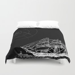 If Time Is My Vessel Duvet Cover