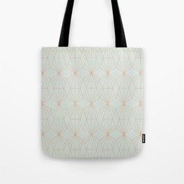 Geometry art decó in blue and orange Tote Bag