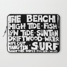 The Beach Subway Art Laptop Sleeve