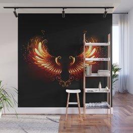 Fire Wings Wall Mural